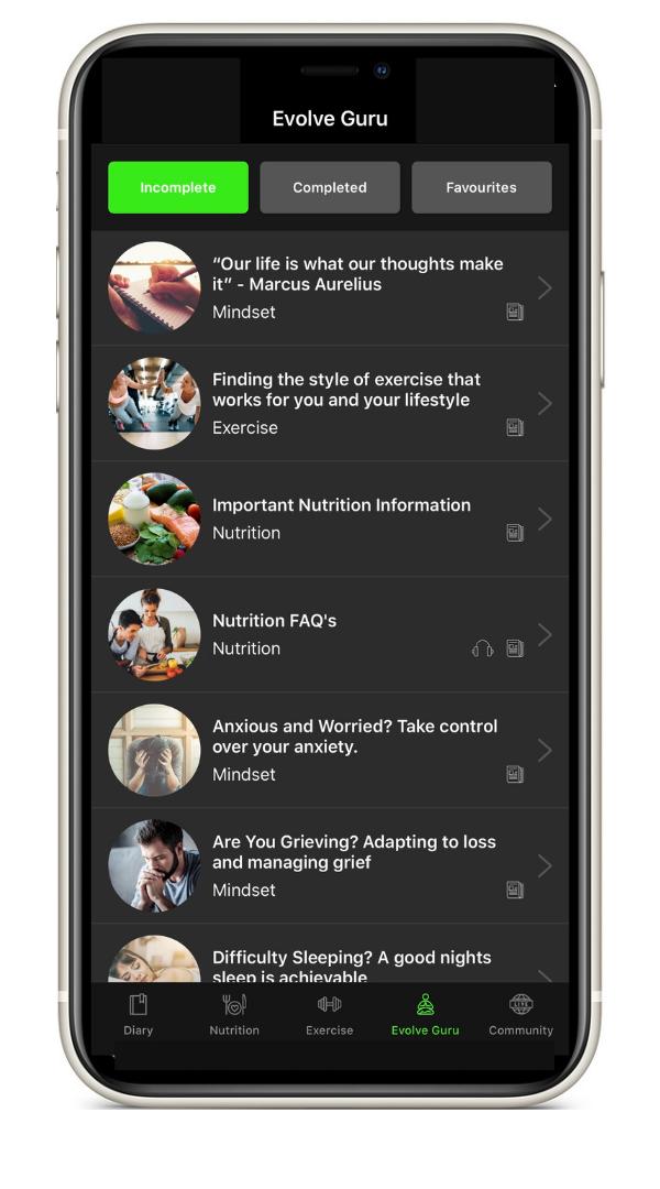 Evolve Fitness App Guru